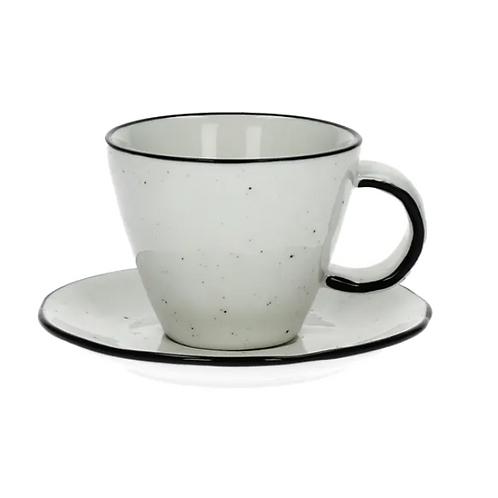 Tasse & soucoupe  en porcelaine - BASIL