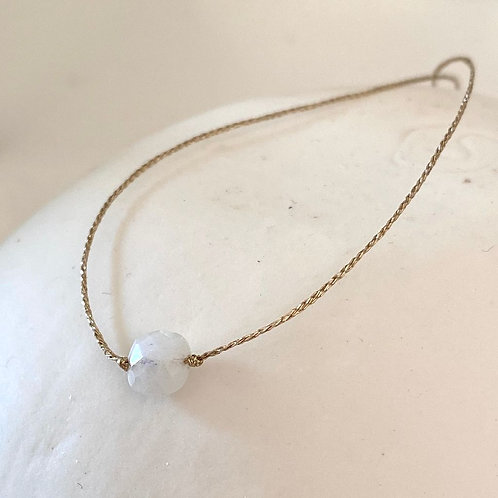 Bracelet 1 Perle Blanche - Graines d'Anis