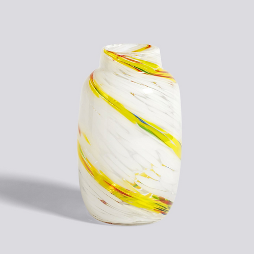 Vase Splash / SWIRL CITRON M ROND - HAY