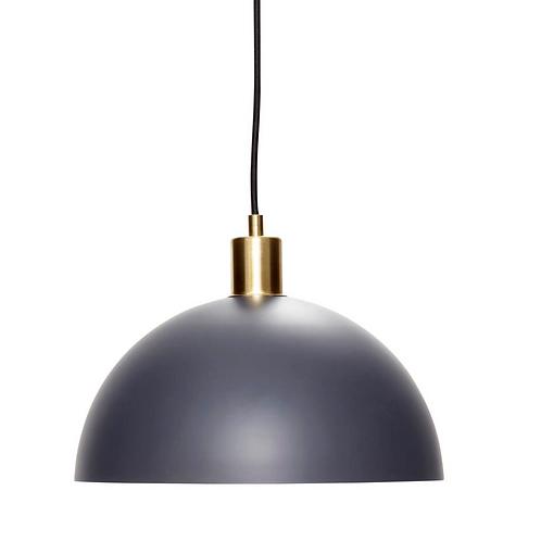 Lampe à suspension, laiton / bleu