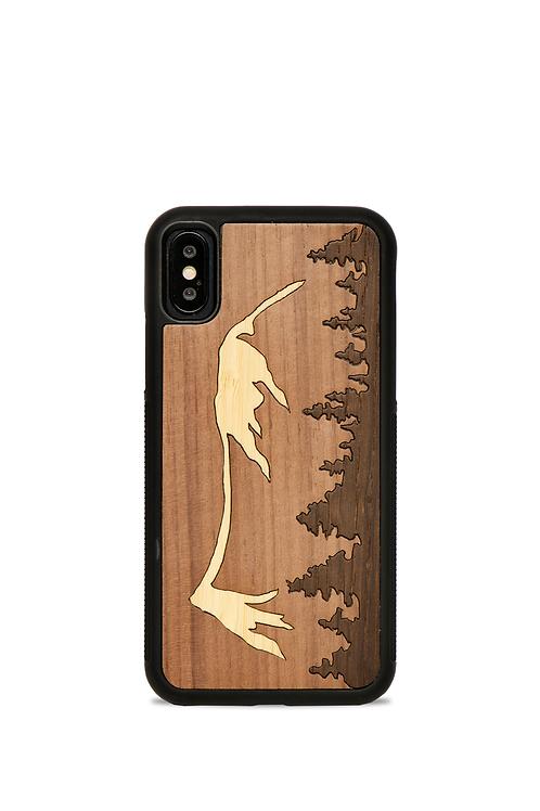 Coque en bois Iphone 7-8 - Le Mont Mézenc