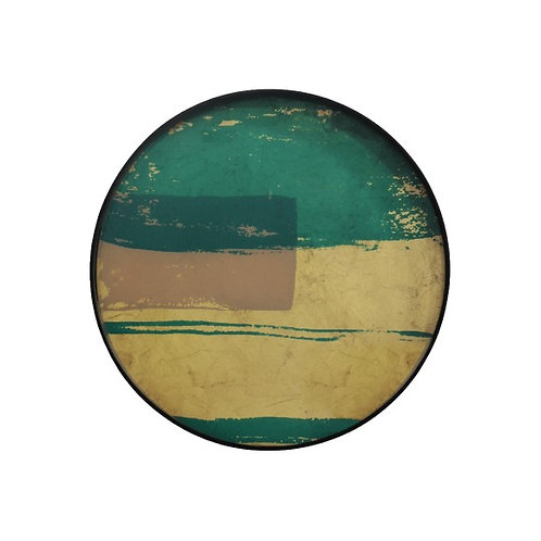 Plateau Turquoise Abstract en verre - Ethnicraft