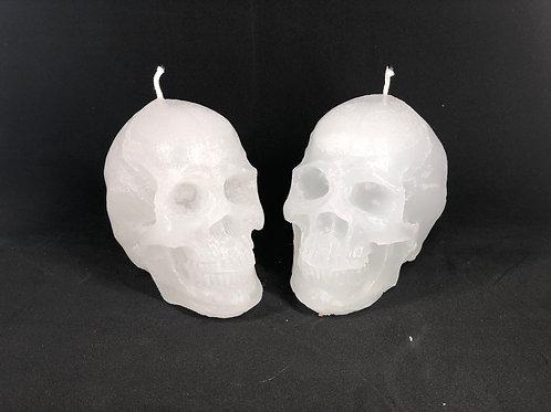 Parrafin Skull Candle