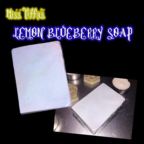 LEMON-BLUEBERRY SOAP