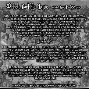 About Witch Bottle Magic