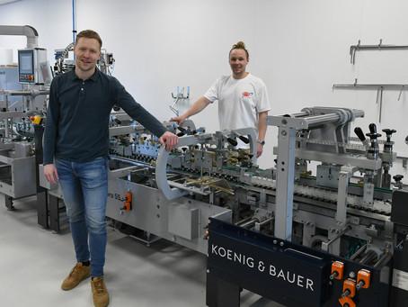 Kartonplus stapt in verpakkingen met Koenig & Bauer Duran vouwplakmachine