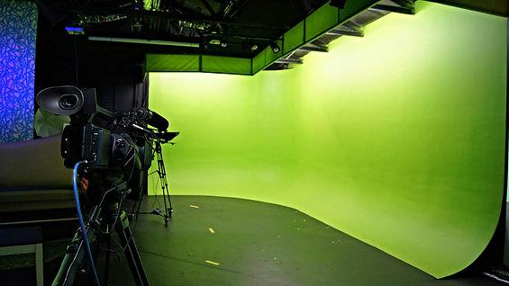 The green screen cyc at the Zoo Studios.