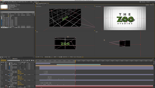 An example of the post production software at The Zoo Studios.