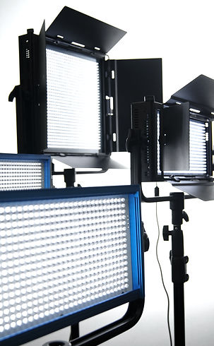 Production lights at The Zoo Studios.