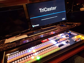 the TriCaster 8000 in Zoo Studio's mobile production RV.