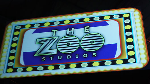 The Zoo Studios' projection mapped logo