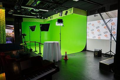 the green screen at Zoo Studios.