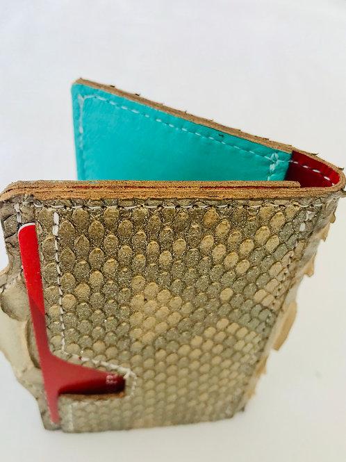 Gold Snakeskin Wallet