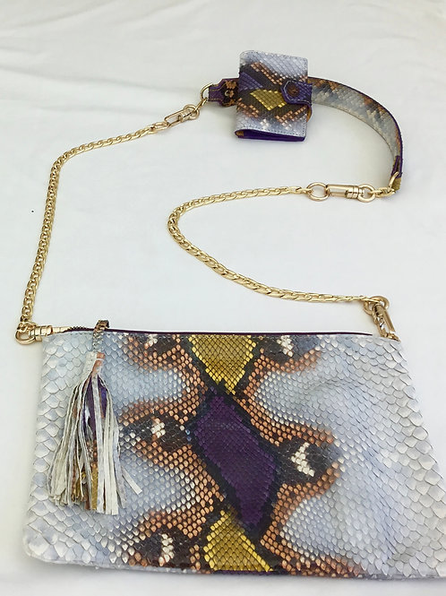White Snakeskin handbag