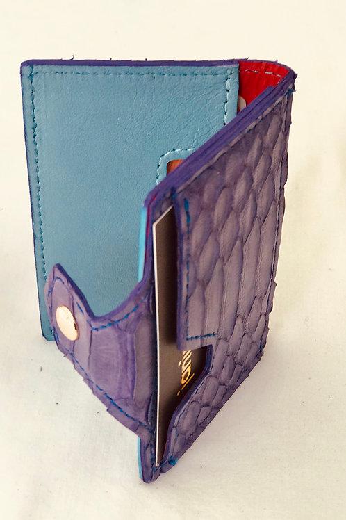 Purple Snakeskin Wallet