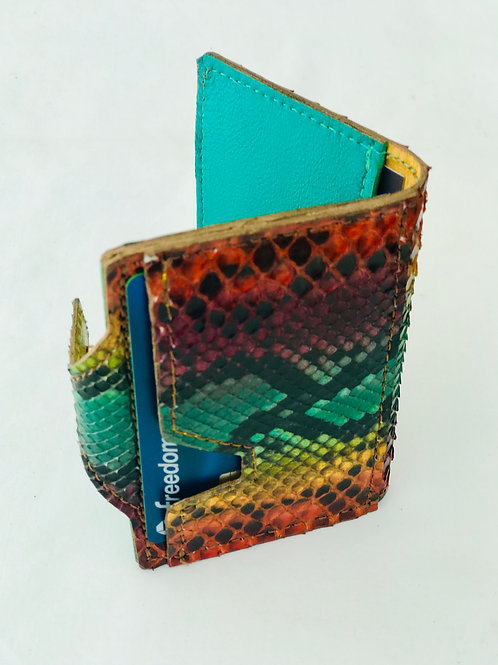 Multi-color Snakeskin Wallet