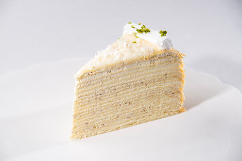 Coconut & White Chocolate Mille Crepe