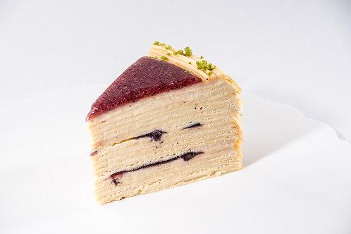 Peanut Blueberry Mille Crepe