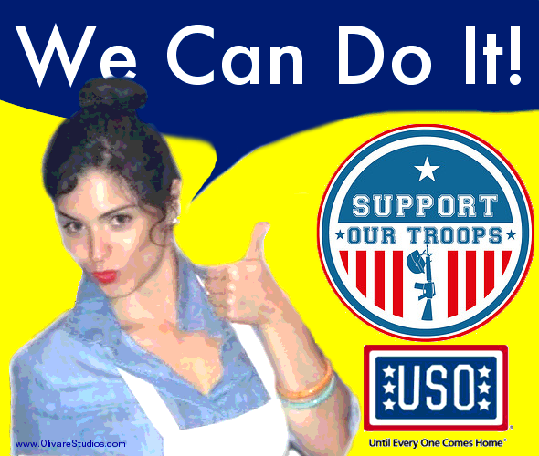 USO troop support poster