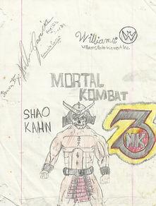 MK3 Shao Kahn drawing