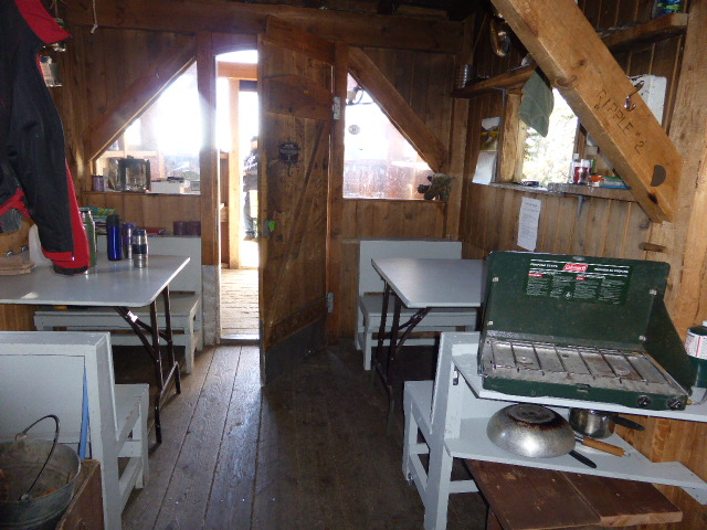 Inside Ripple Ridge Cabin