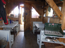 Inside Ripple Ridge Cabin