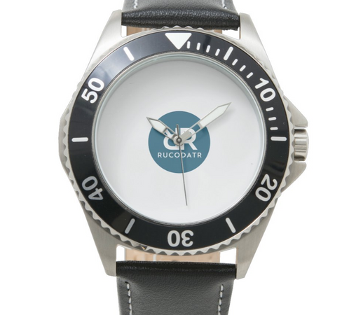 Steel Black Leather Watch 1.PNG