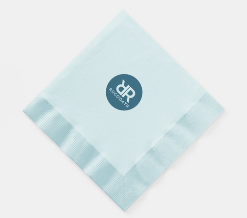 Coined Paper Napkins Blue 1.PNG