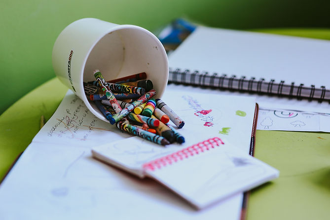 kaboompics_Children's scribbles in a not
