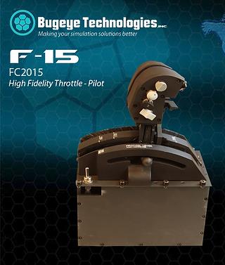High Fidelity F-15 Throttle