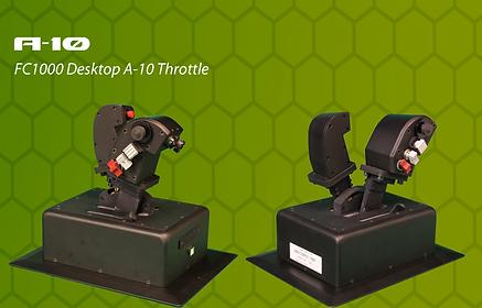 A-10 throttle, simulated a-10 throttle