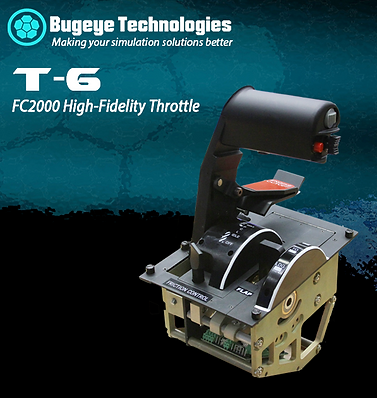 Simulation grade T-6 Throttle