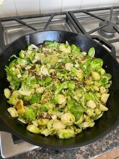 Quinoa with Brussel Sprouts, Pecans and Apricots