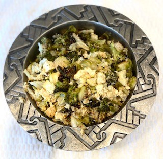 Roasted Vegetables and Tofu with Tahini, Za'atar and Lemon