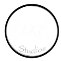 LK logo design in a line font Zapfino HA