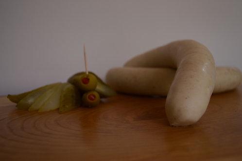 paquete de salchicha blanca 1 kilo