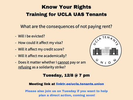 Know Your Rights - Training for UCLA UAS Tenants