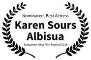 Nominated Best Actress - Karen Sours Alb