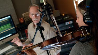 Alex recording Beth in the studio