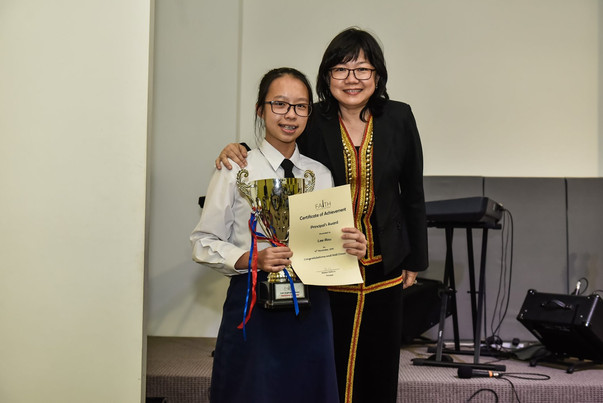 Principal's Award Recipient for 2019 - Lee Rou