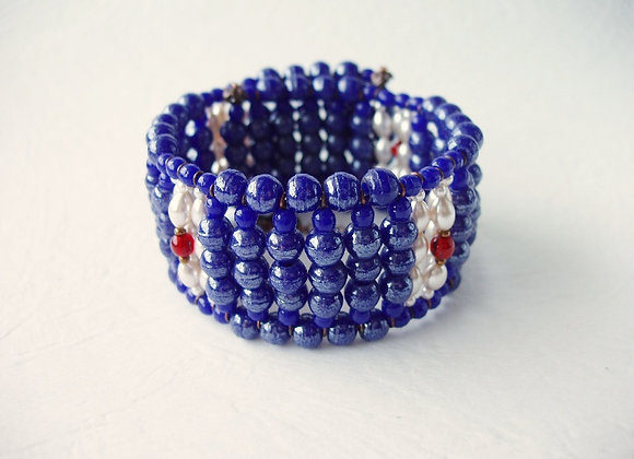 NAVY BLUE BRACELET CUFF