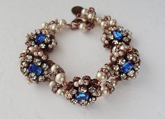 Sapphire Princess RHINESTONE BRACELET historical jewellery
