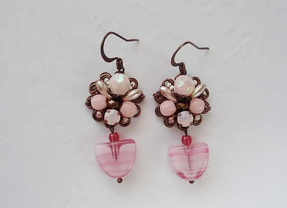 PALE PINK DANGLE EARRINGS Flavors of Rose
