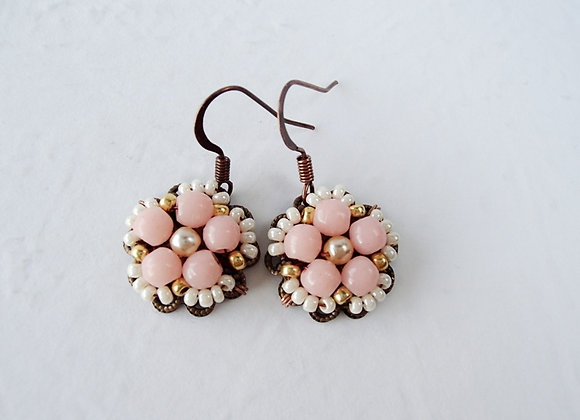 PINK DANGLE EARRINGS Collection Amelie
