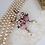 Thumbnail: Marie Antoinette PINK EARRINGS in VINTAGE STYLE