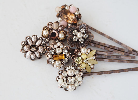 RHINESTONE HAIR PIN Assorted COLORS