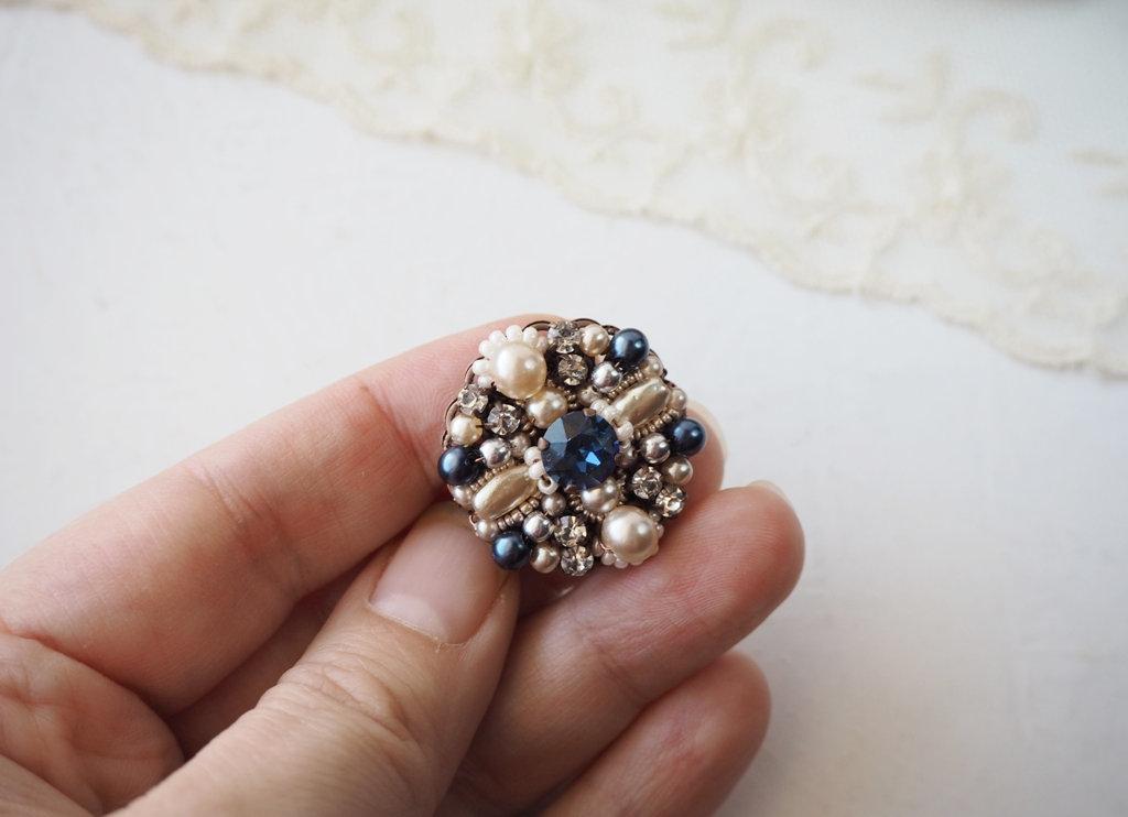 d7a48a8cb5 SMALL Montana BLUE RHINESTONE BROOCH | mdmbutiik