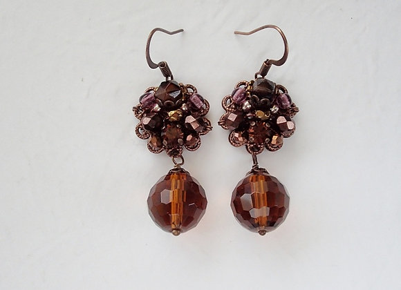 DARK BROWN DANGLE EARRINGS Flavors of Chocolate