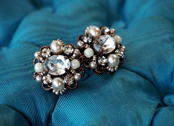 Bridal rhinestone earrings Classical