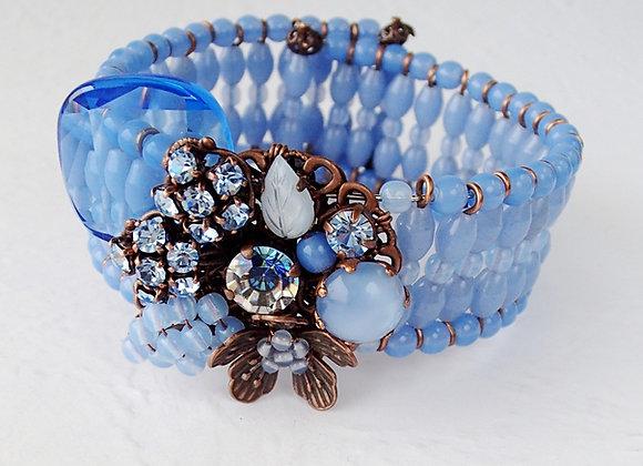 PALE BLUE BRACELET CUFF